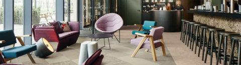 Vinyl flooring in luxuriously decorated restaurant
